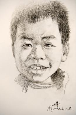 这个长沙的美术老师火了! 支教近一年 临别时给班里的50个孩子都画了素描