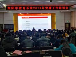 """实施党建""""亮灯工程""""  浏阳教育局党委做好党建与业务结合文章"""