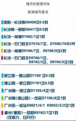 4月10日起,广铁将实施新的列车运行图
