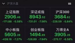 A股5月遭遇开门黑:沪指大跌5.58% 逾千股跌停