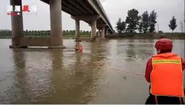 """懷化男子早上釣魚中午被淹,被消防""""綁""""回岸邊"""