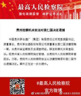 贵州通报:袁仁国所涉问题相当严重 严重破?#24471;?#21488;形象