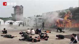 湖南开展军地联合应急演练,空地一体救援现场堪比大片