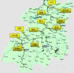 湘江上游正退水,湘江中游衡阳以下持续上涨