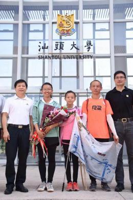 从益阳到汕头大学!00后女生和父亲、妹妹三人徒步1300公里上大学