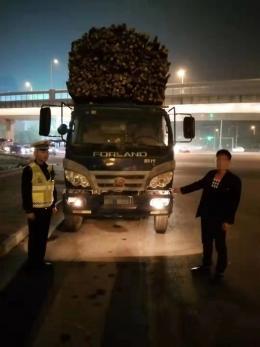"""核载1400公斤的车载货近1吨,""""超负荷""""奇葩造型被交警查获"""