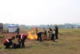 長輸油氣管道泄漏著火事故應急救援演練
