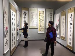 到湖南圖書館看慶祝新中國成立70周年書畫展